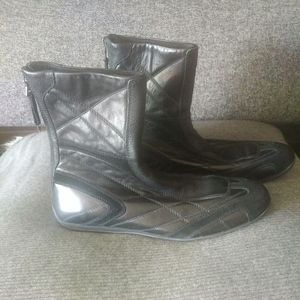 Prada Quilted Leather Ankle Boots, Black size 37